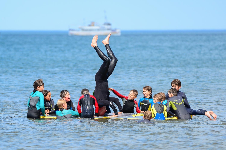 Kids having fun at Scarborough Kids Surf Club